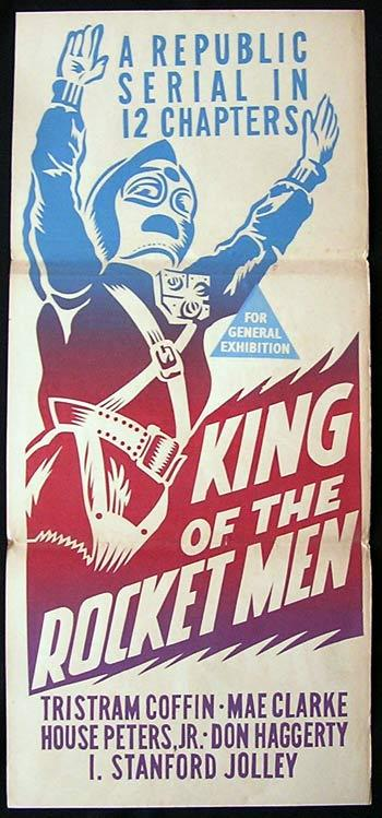 KING OF THE ROCKET MEN '49 Republic Serial RARE Daybill Movie poster