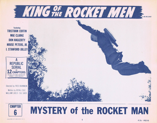 KING OF THE ROCKET MEN Lobby Card 5 1956r Republic Cliffhanger Serial Chapter 6