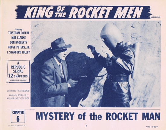 KING OF THE ROCKET MEN Lobby Card 6 1956r Republic Cliffhanger Serial Chapter 6