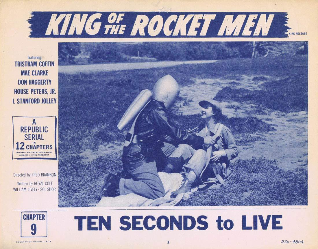 KING OF THE ROCKET MEN 1956r Republic Cliffhanger Serial Lobby Card 3 (Chapt. 9)