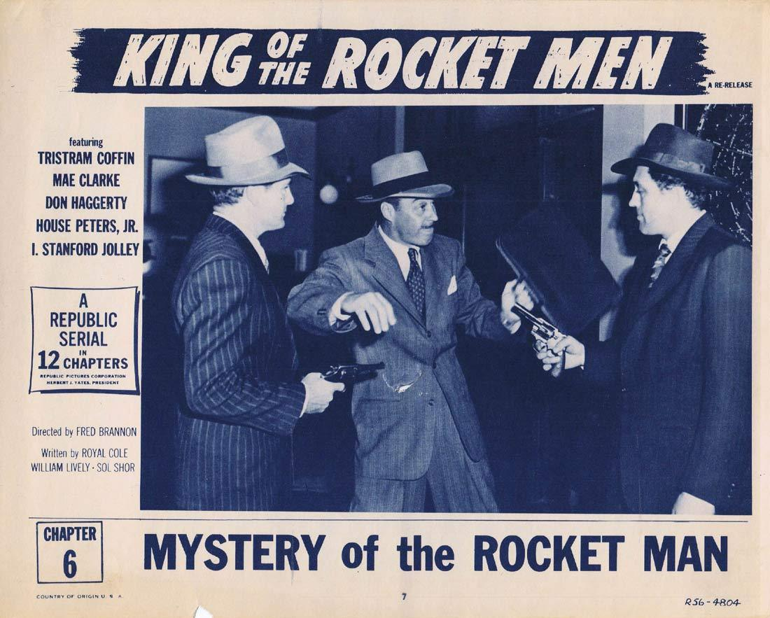 KING OF THE ROCKET MEN 1956r Republic Cliffhanger Serial Lobby Card 7 Chapt. 6