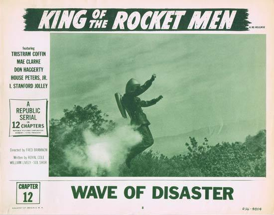 KING OF THE ROCKET MEN 1956r Republic Cliffhanger Serial Lobby Card 8 (Chapt. 12)