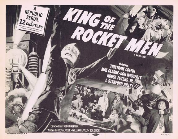 KING OF THE ROCKET MEN 1956r Republic Cliffhanger Serial Title Lobby Card (Chapt 4)