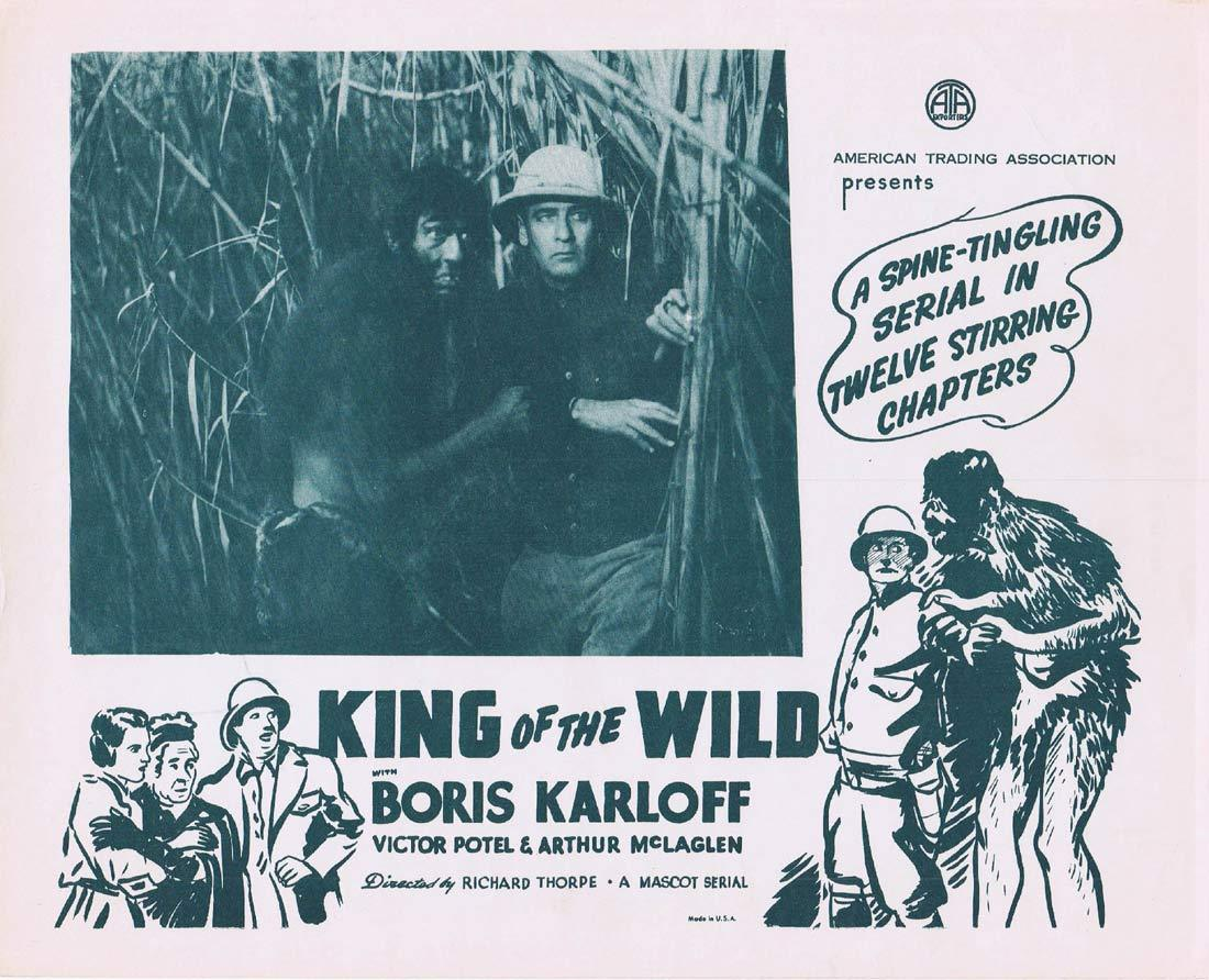 KING OF THE WILD Original Lobby Card Boris Karloff 1940sr