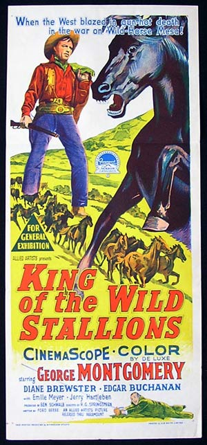 KING OF THE WILD STALLIONS '59 Daybill Movie Poster Richardson Studio