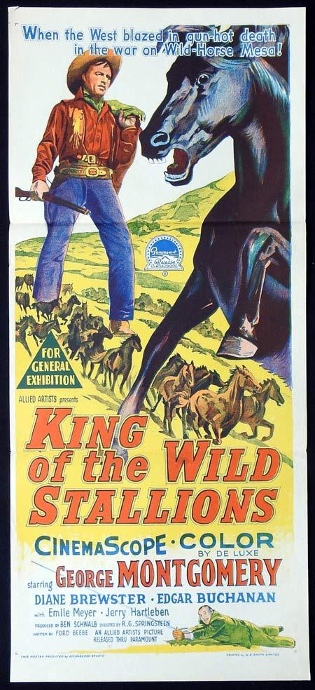 KING OF THE WILD STALLIONS Original Daybill Movie Poster Richardson Studio