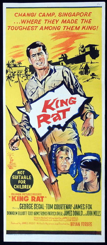 KING RAT Original Daybill Movie Poster George Segal Tom Courtenay
