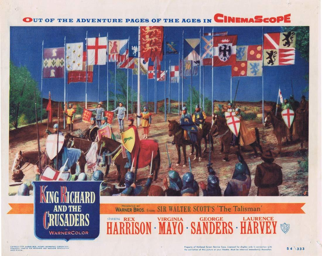 KING RICHARD AND THE CRUSADERS Original Lobby Card 5 Rex Harrison Virginia Mayo