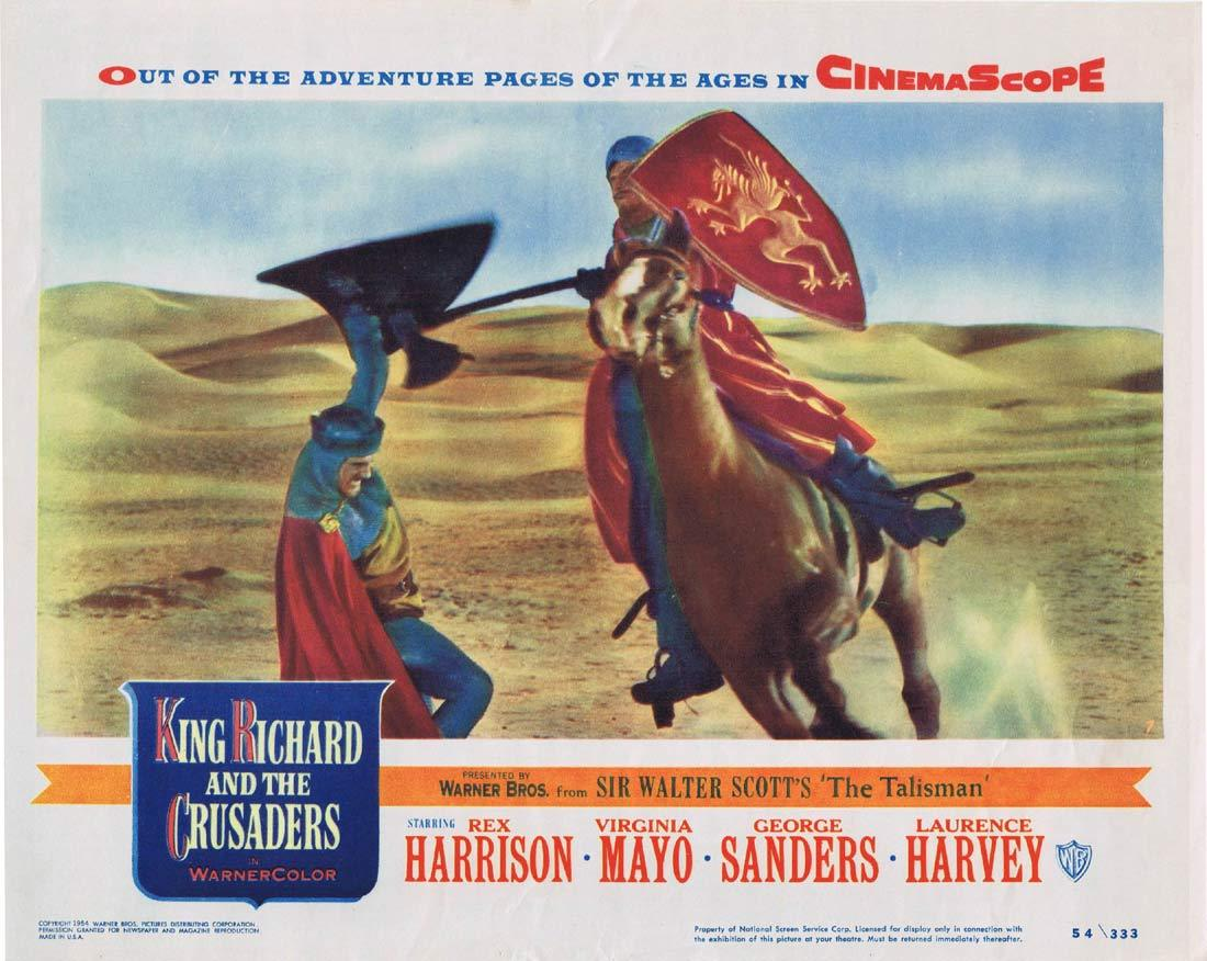 KING RICHARD AND THE CRUSADERS Original Lobby Card 7 Rex Harrison Virginia Mayo