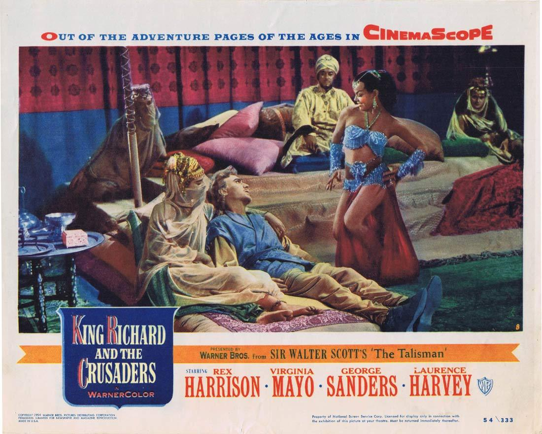 KING RICHARD AND THE CRUSADERS Original Lobby Card 8 Rex Harrison Virginia Mayo