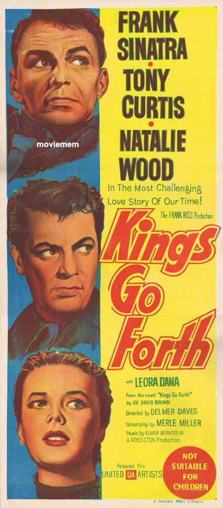 KINGS GO FORTH Original Daybill Movie poster Frank Sinatra Tony Curtis