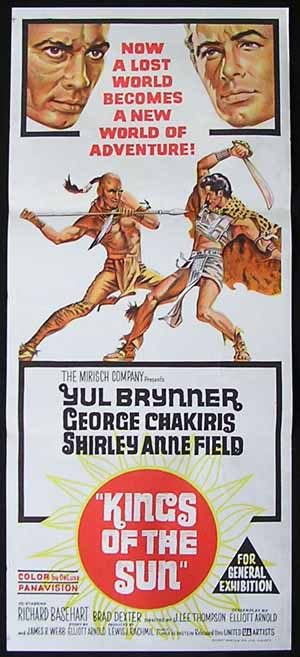 KINGS OF THE SUN Daybill Movie poster Yul Brynner