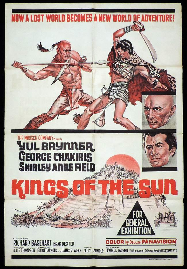 KINGS OF THE SUN One sheet Movie poster Yul Brynner