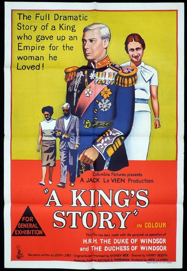 A King's Story, Harry Booth, King Edward VIII, one sheet, Movie poster, Documentary