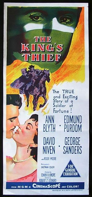 THE KINGS THIEF daybill Movie poster George Sanders David Niven