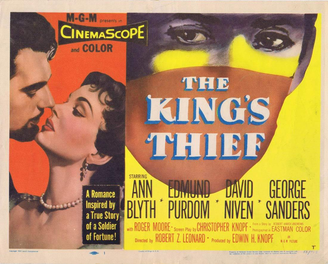 THE KINGS THIEF 1955 Ann Blyth Purdom Title Lobby card