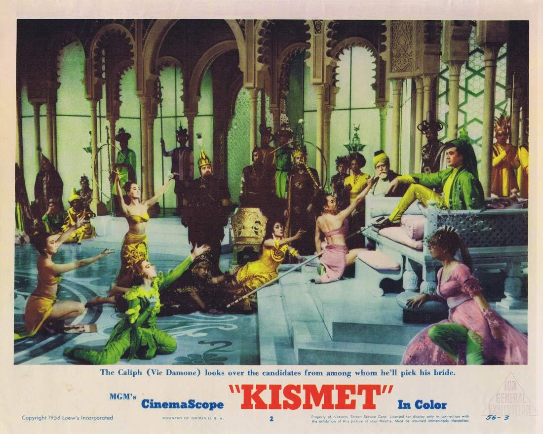 KISMET Original Lobby Card 2 Howard Keel Ann Blyth Dolores Gray