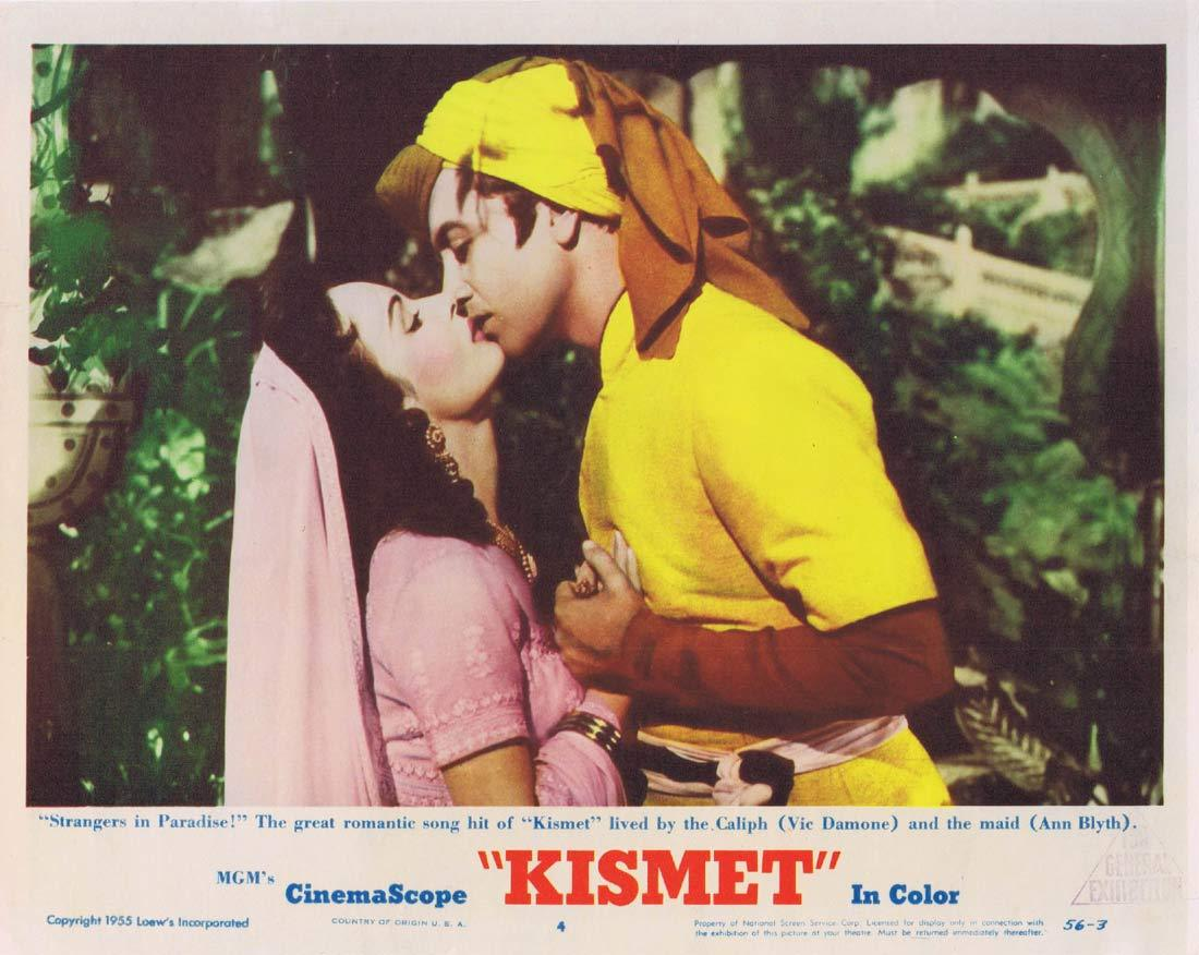 KISMET Original Lobby Card 4 Howard Keel Ann Blyth Dolores Gray
