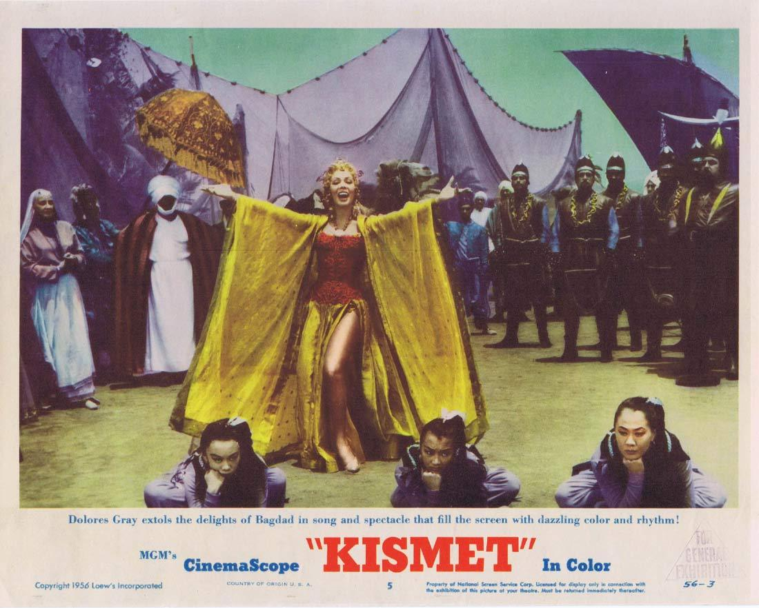 KISMET Original Lobby Card 5 Howard Keel Ann Blyth Dolores Gray