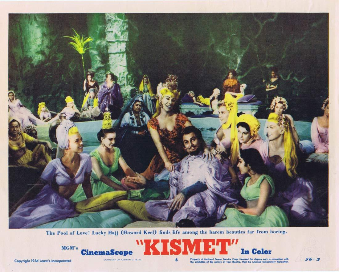 KISMET Original Lobby Card 8 Howard Keel Ann Blyth Dolores Gray