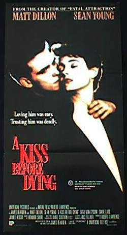 A KISS BEFORE DYING Daybill Movie poster 1991 Matt Dillon FILM NOIR