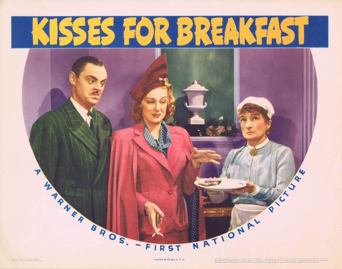 KISSES FOR BREAKFAST Lobby Card Dennis Morgan Jane Wyatt Shirley Ross