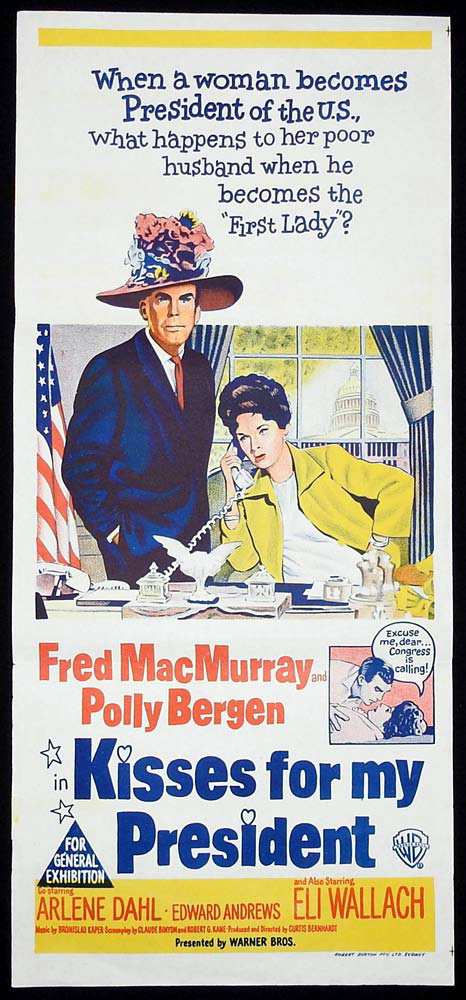 KISSES FOR MY PRESIDENT Original Daybill Movie Poster Fred MacMurray