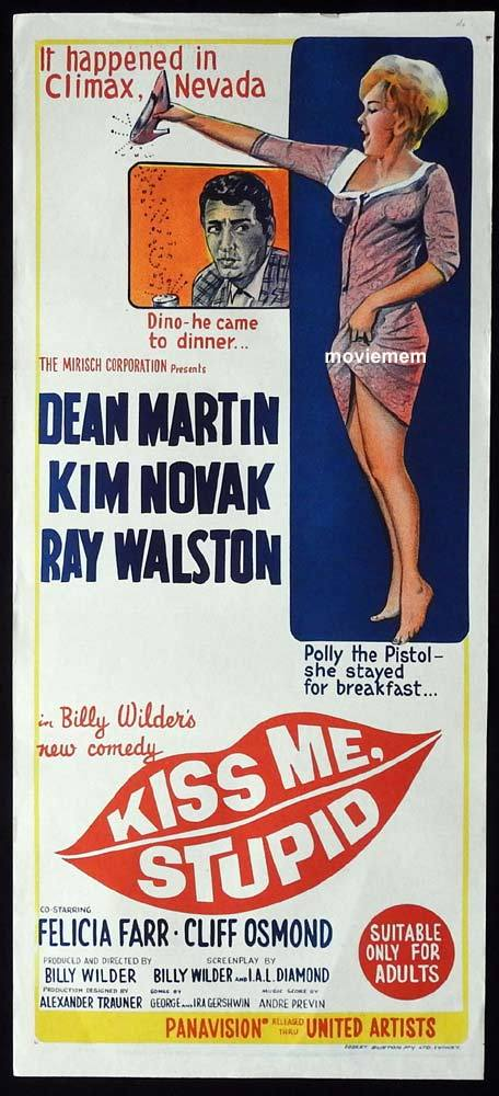 KISS ME STUPID Original Daybill Movie Poster Dean Martin Kim Novak