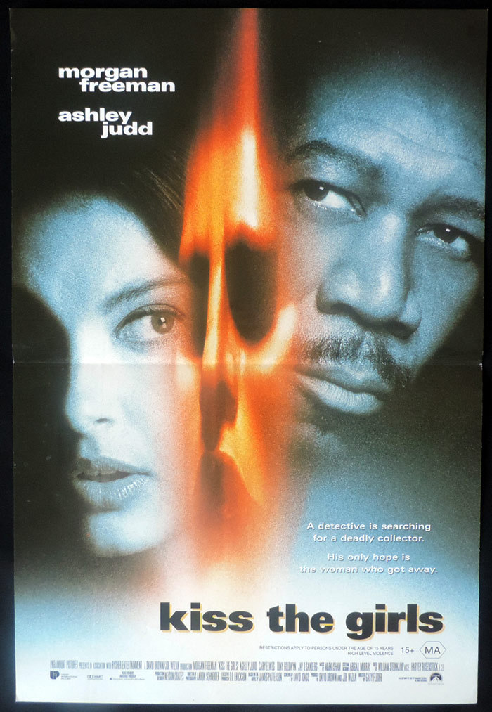 KISS THE GIRLS Original Daybill Movie poster Ashley Judd Morgan Freeman
