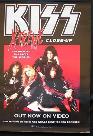KISS X-TREME '92 Rare Art GENE SIMMONS-original poster