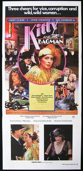 KITTY AND THE BAGMAN 1982 Collette Mann RARE Daybill Movie poster