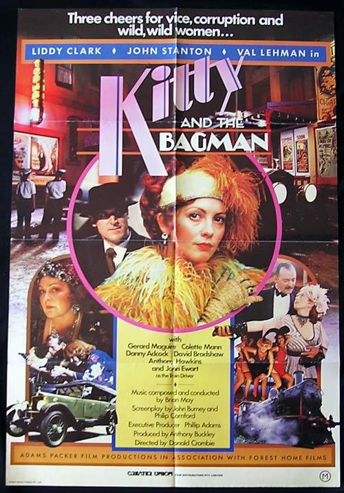 KITTY AND THE BAGMAN '82 Collette Mann RARE 1 sheet poster