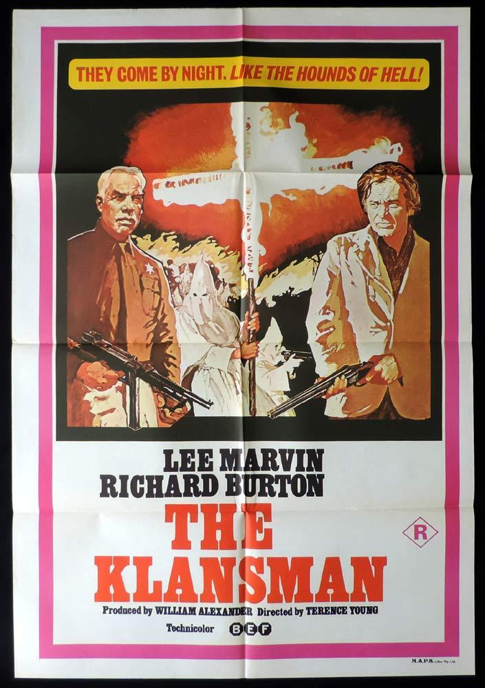 THE KLANSMAN Original One sheet Movie poster Lee Marvin Richard Burton