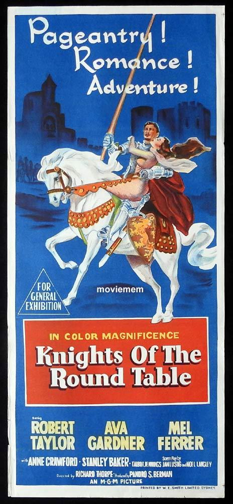 KNIGHTS OF THE ROUND TABLE Original Daybill Movie Poster Robert Taylor Ava Gardner