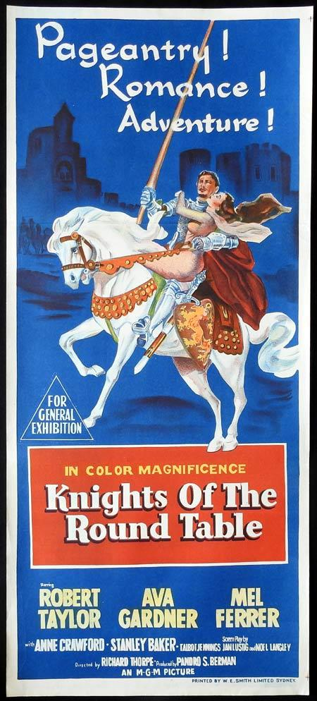 KNIGHTS OF THE ROUND TABLE Original daybill Movie Poster