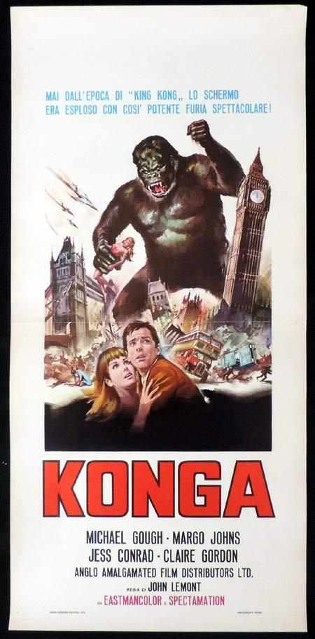 KONGA Italian Locandina Movie Poster Michael Gough Giant Gorilla