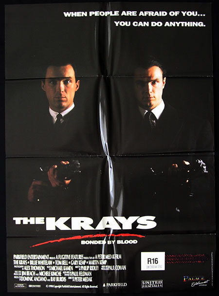 THE KRAYS Original One sheet Movie poster Billie Whitelaw Tom Bell