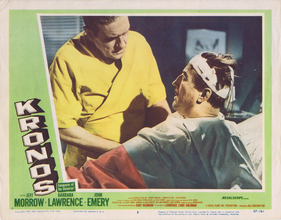 KRONOS Lobby card 3 Jeff Morrow 1957 Science Fiction