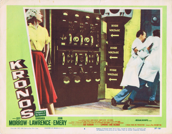 KRONOS Lobby card 4 Jeff Morrow 1957 Science Fiction