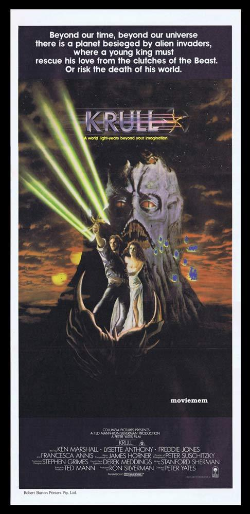 KRULL Original Daybill Movie Poster Francesca Annis PETER YATES Ken Marshall