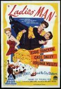 LADIES MAN Original One sheet Movie Poster Eddie Bracken Cass Daley Virginia Welles Spike Jones
