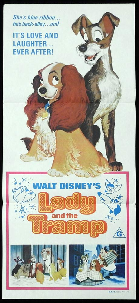 Lady And The Tramp Original Daybill Movie Poster Peggy Lee Disney