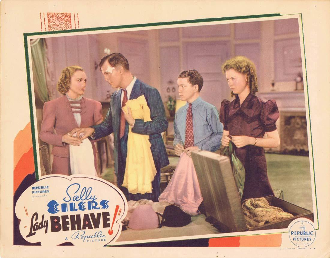 LADY BEHAVE Original Lobby Card 3 Sally Eilers Neil Hamilton 1937