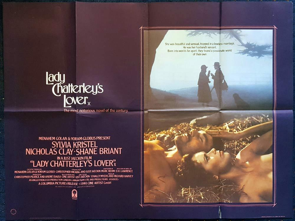 LADY CHATTERLEY'S LOVER British Quad Movie poster Sylvia Kristel