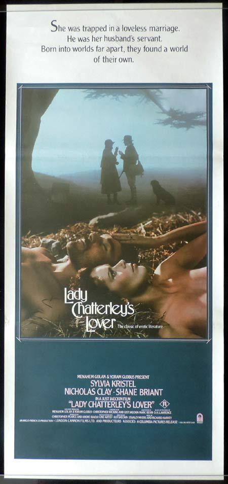 LADY CHATTERLEY'S LOVER Original Daybill Movie poster Sylvia Kristel Nicholas Clay