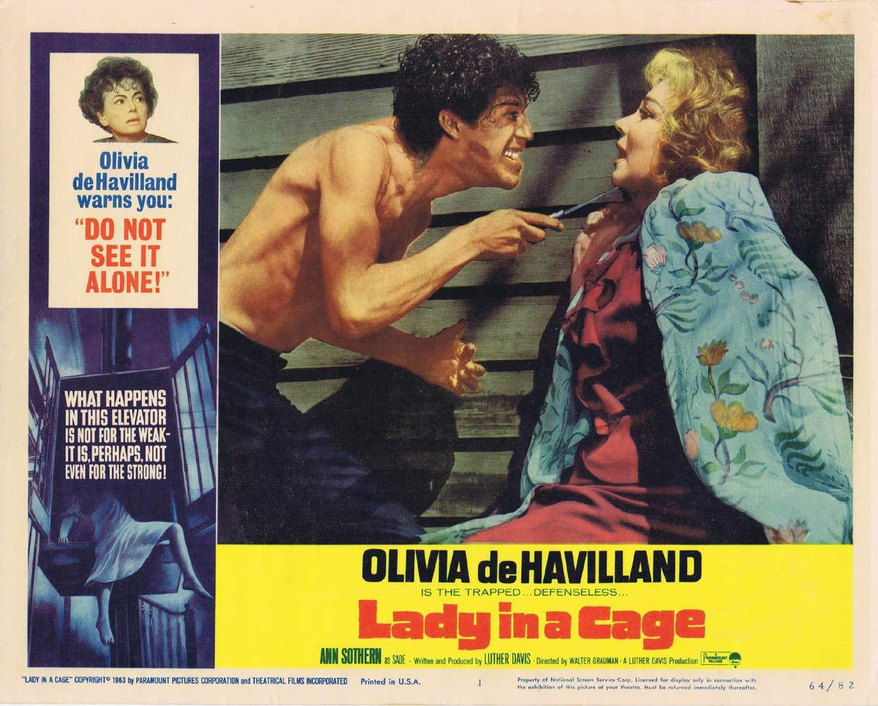 LADY IN A CAGE Lobby Card 1 Olivia de Havilland