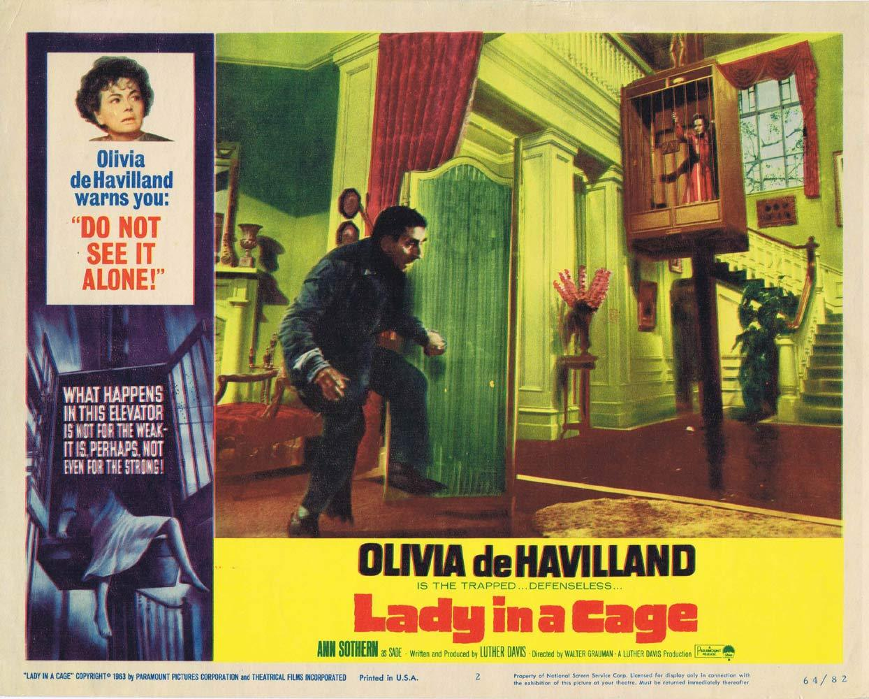 LADY IN A CAGE Lobby Card 2 Olivia de Havilland