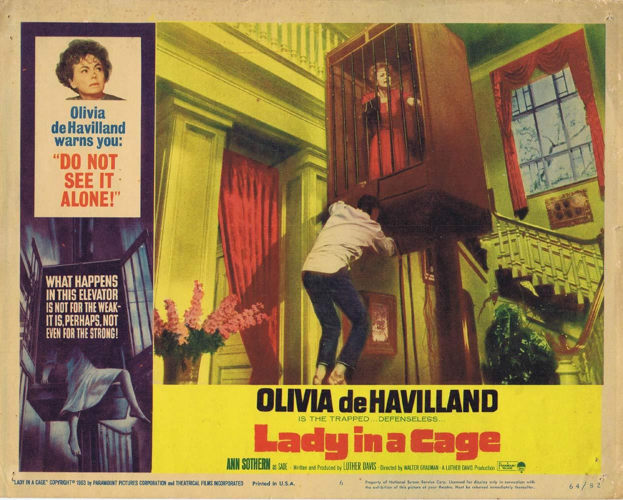 LADY IN A CAGE Lobby Card 6 Olivia de Havilland