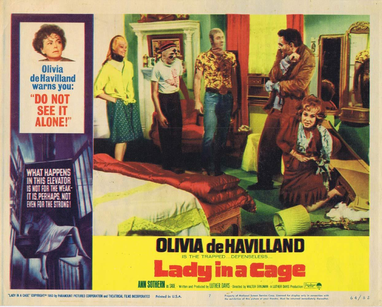 LADY IN A CAGE Lobby Card 7 Olivia de Havilland