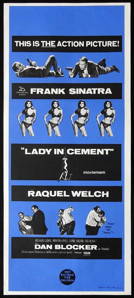 LADY IN CEMENT Original Daybill Movie Poster Frank Sinatra Raquel Welch Richard Conte